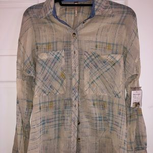 Free People button down.